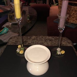 Unity Candle Holder W/ 2 Candles For the Mothers